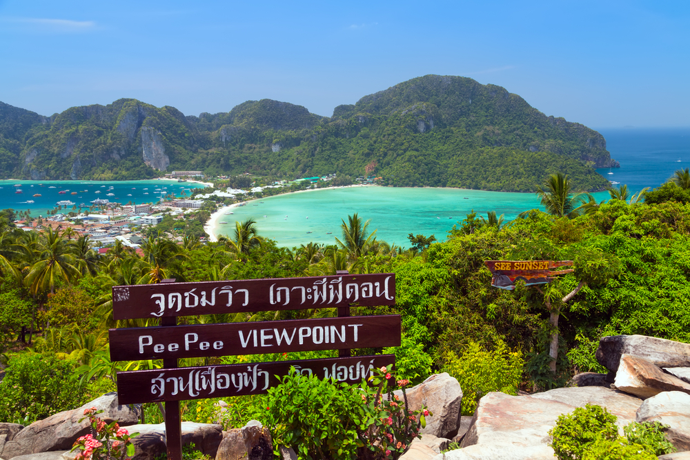View Point bay Koh Phi Phi Don in andaman sea_360243242