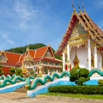 Thai church of Karon Temple at Phuket Province in Thailand_256539760