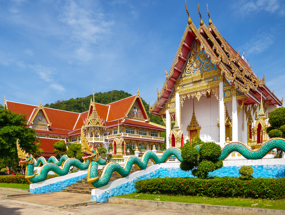 Thai church of Karon Temple at Phuket Province in Thailand_256539760