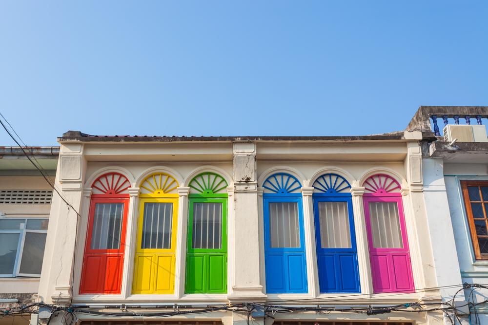 Colorful windows Sino-Portuguese style_312311525