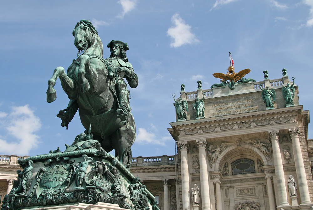 Prince Eugene in front of Hofburg Palace_382871260