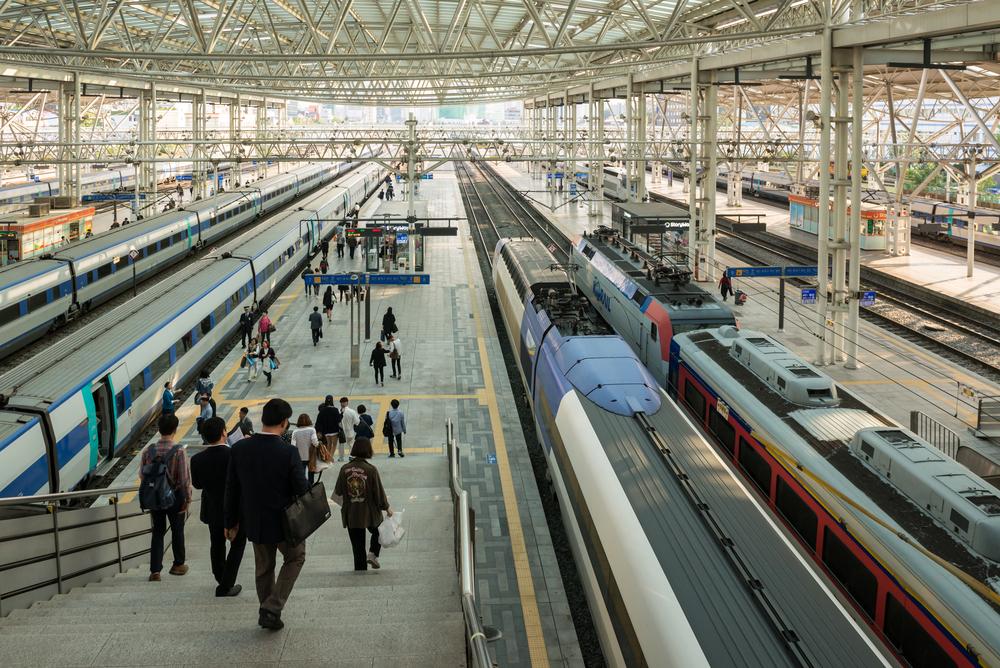 Seoul train Station platform_362991137