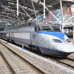 High-speed bullet trains (KTX) and Korail trains_250162174