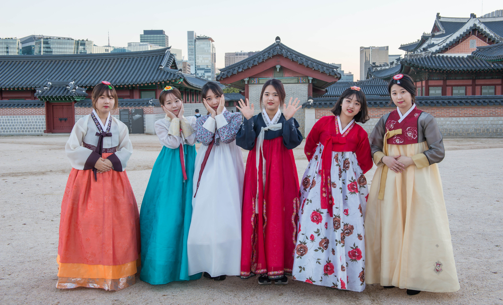 Woman with Hanbok_343942523