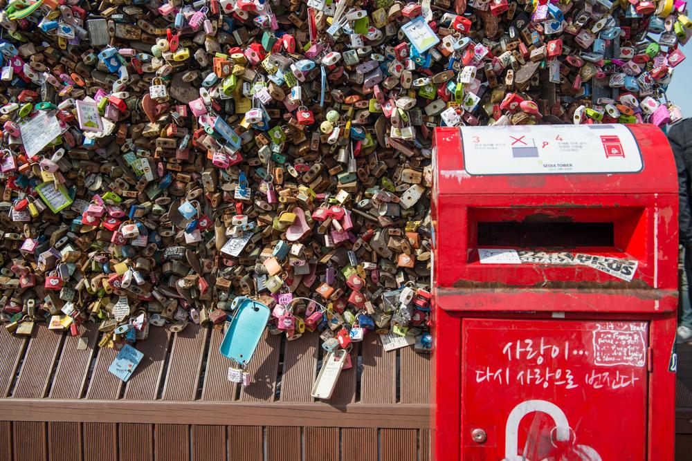 Love padlocks at N Seoul Tower_299423015
