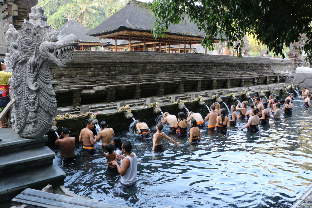 Holy Temple Pool at Pura Tirta Empul Bali_338777285