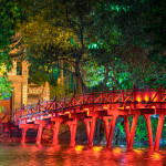 Hanoi Red Bridge at night_291799682