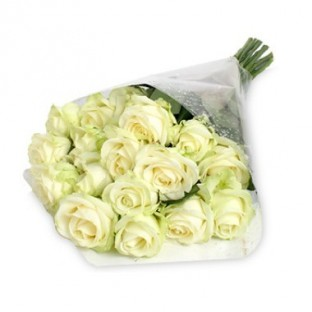 Bouquet de 24 rosas blancas