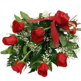 Bouquet de 6 rosas rojas