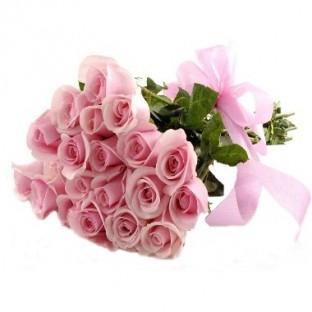Bouquet de 24 rosas rosadas