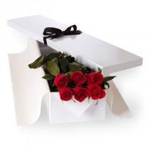 6 rosas en Caja