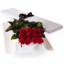 12 rosas en Caja