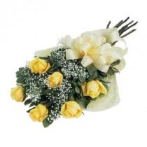 Bouquet de12 rosas amarillas
