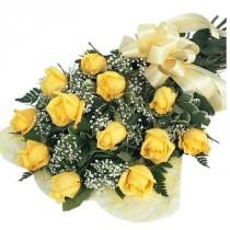 Bouquet de 12 rosas amarillas