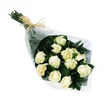 Bouquet de 12 rosas blancas
