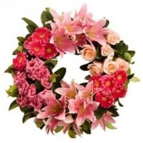 Corona de Flores Rosadas