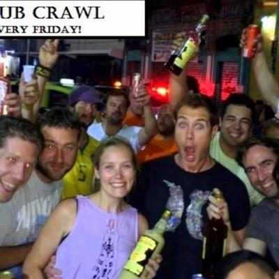 Free pub crwal every friday
