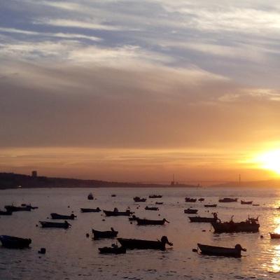 Nascer do sol barcos
