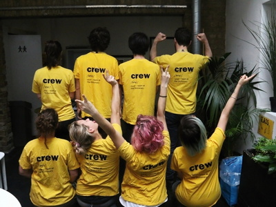 Our team has amazing yellow t shirts