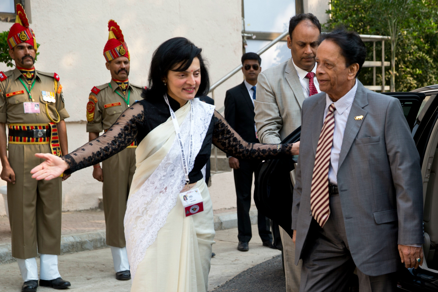 Mauritian Prime Minister Anerood Jugnauth arrives in New Delhi.