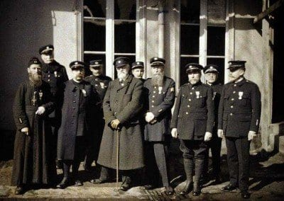 Chaplain and other French officers