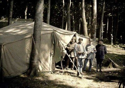 What appears to be an officer's tent?