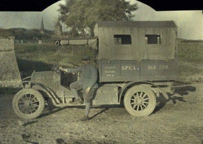 S.P.C.A. pick-up truck.