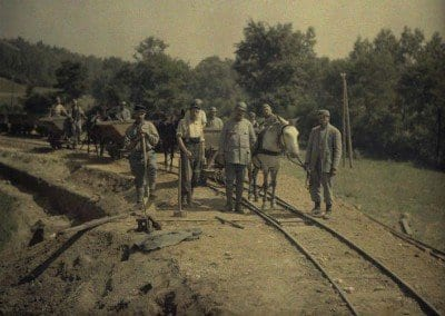 Construction of a railway line