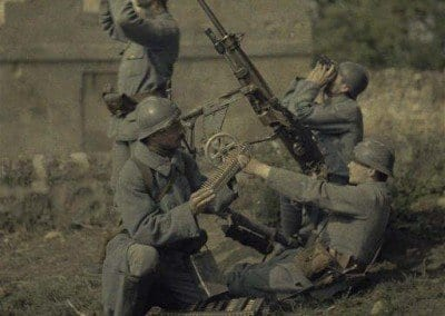 Four machine gunners