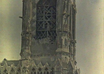 Damaged bell tower