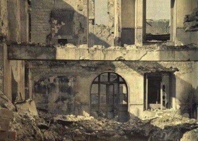 Printing works in ruins