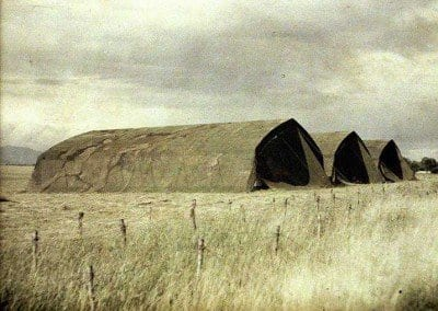Field tents as barracks or are these air hangars?