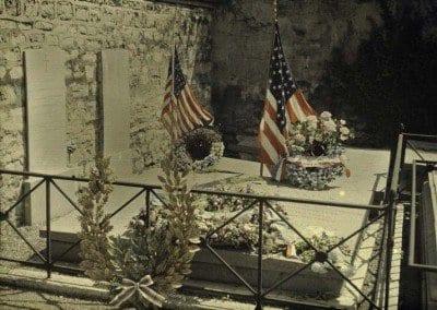 Lafayette's grave in Picpus cemetery