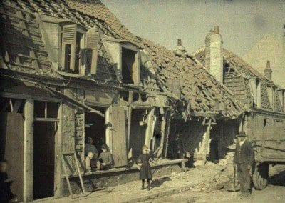 Near Dunkirk, after bombing