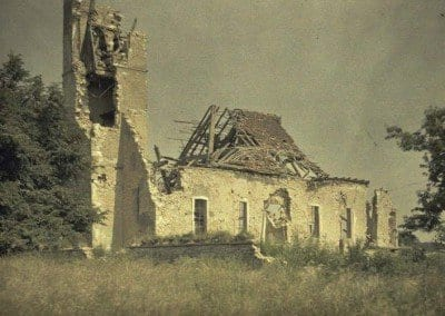 Badly damaged church
