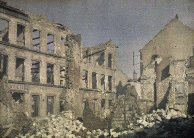 Saint Symphorien Street. The pawnshop. Buildings destroyed.