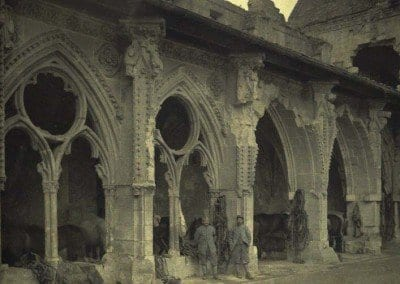 Damaged Saint-Jean cloister