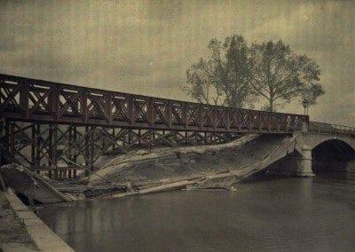Destroyed - and rebuilt - bridge