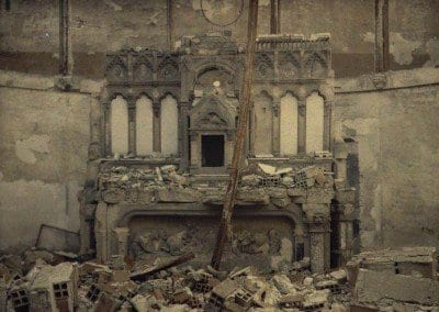 Destroyed altar