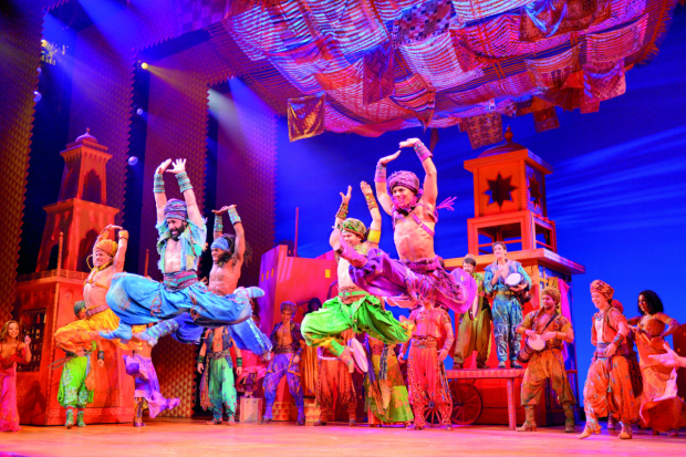 The Broadway production of Aladdin