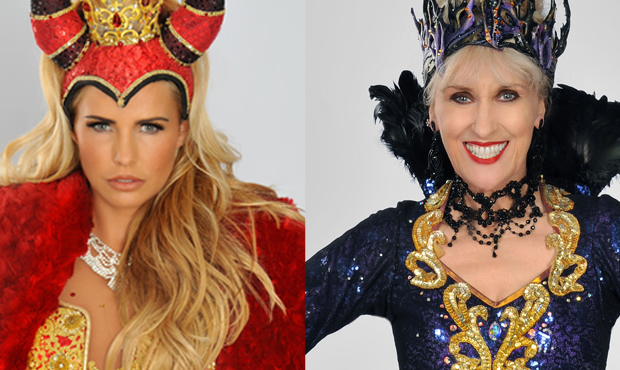 Katie Price and Anita Dobson will share the role of the Wicked Fairy