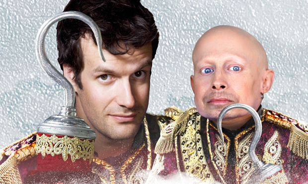 Marcus Brigstocke and Verne Troyer star in Peter Pan