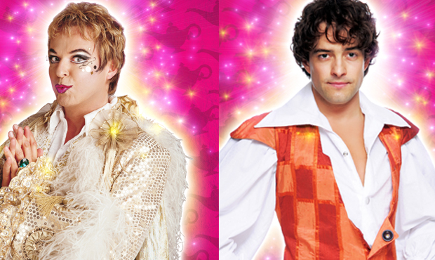 Julian Clary and Lee Mead in Aladdin