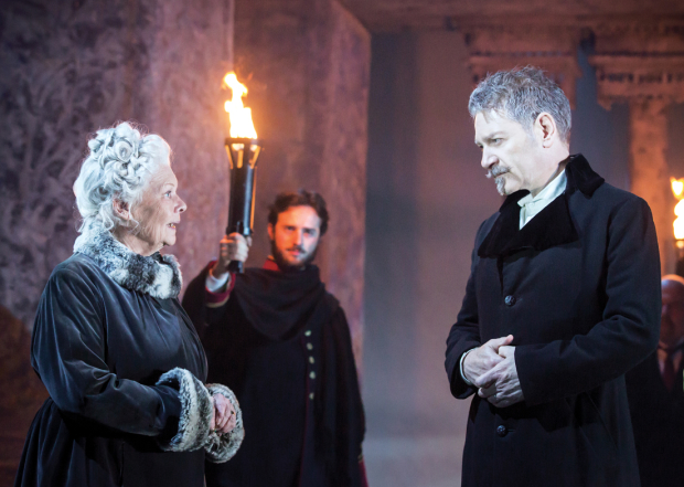 Judi Dench (Paulina) and Kenneth Branagh (Leontes)