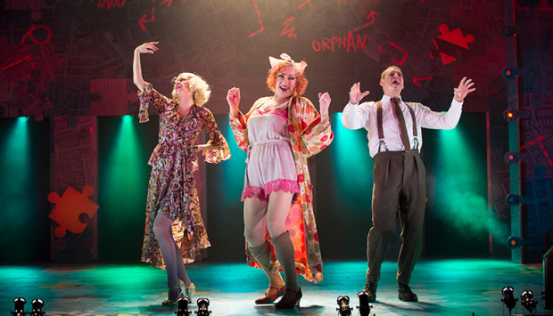 Djalenga Scott, Craig Revel Horwood and Jonny Fines in Annie