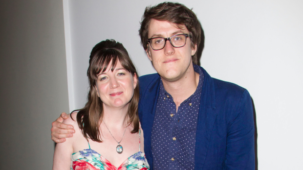 Josie Rourke and Nick Payne at the launch of  Same Deep Water As Me in 2013