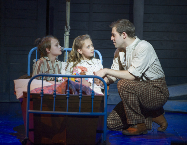 Harry Grasby (Jeremy), Lucy Sherman (Jemima) and Jon Robyns (Caractacus Potts)