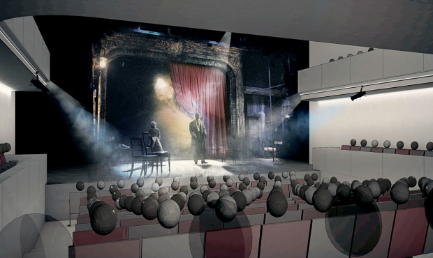 An image of the proposed re-design of the Tricycle Theatre