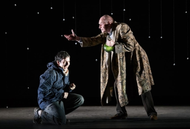 Nicholas Sharratt as Richard and Steven Page as the Old Man in The Devil Inside (Music Theatre Wales / Scottish Opera)