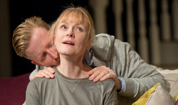 Tom Goodman-Hill (Howie) and Claire Skinner (Becca) in Rabbit Hole at Hampstead Theatre
